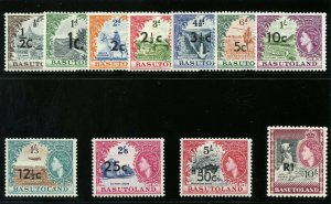 Basutoland 1961 QEII set complete superb MNH. SG 58-68b. Sc 61-71.