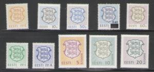 Estonia Sc 214-23 1992  National Arms  stamp set mint NH