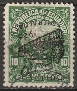 Ecuador 1926 Sc 265 used inverted overprint