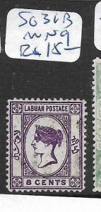 LABUAN  (P2705B)  QV 6C CAMEO  SG 31B   MNG