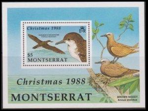 1988 Montserrat 734/B50 Christmas / Birds of Montserrat