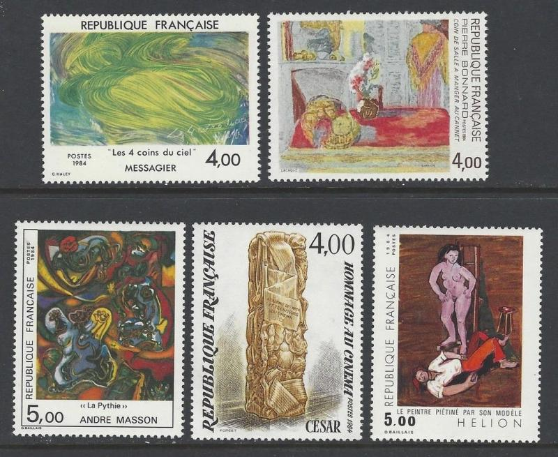 France 1984 Art Messagier Masson Hellon VF MNH (1908-12)