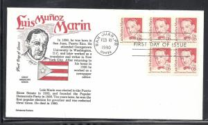 US #2173 Luis Munoz Marin Aristocrat cachet unaddressed fdc