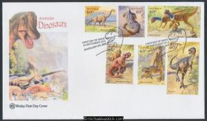 24-Sep-2013 Australia Age of Dinosaurs Wesley First Day Cover