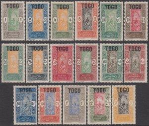 Togo 193-209 MH CV $35.15