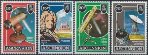 Ascension MNH Set Halley's Comet Space Telescope 1986