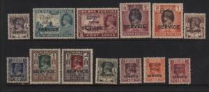 Burma #O43 - #O55 VF/NH Rare Set