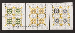 Jamaica 2005 #1013-5 Sheetlets, Europa 50th Anniversary, MNH.