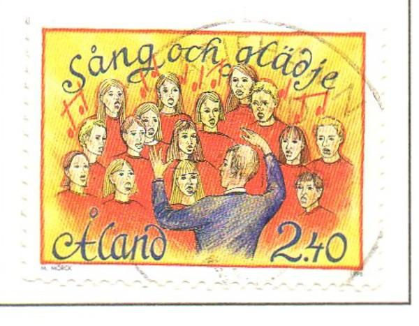 Aland Sc  128 1996 Song Festival stamp used