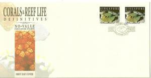 SINGAPORE - Sc#675B 1994 Corals & Reef Life FDC