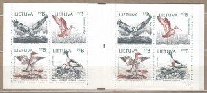 LITHUANIA 1992 Fauna Birds Booklet MNH(**) Mi 501-504 #HS28
