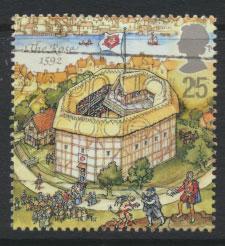 Great Britain SG 1883  Used  - Shakespeare Globe Theatre