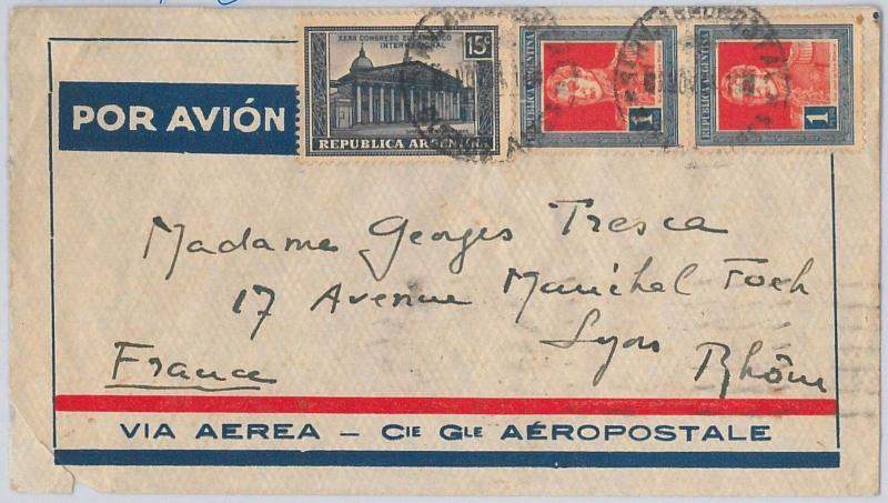 ARGENTINA - postal history - AIRMAIL COVER Via AEROPOSTAL to FRANCE - 06.11.1934