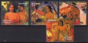 Sao Tome and Principe 2005 PAUL GAUGUIN FAMOUS NUDES PAINTINGS Set (4) MNH