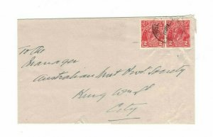 APH1495) Australia 1931 2d Red KGV Die III Small Cover