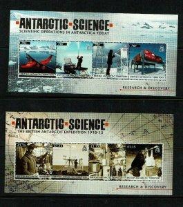 British Antarctic Territory: 2011, Antarctic Science, 3 M/sheets, MNH