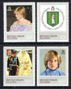 British Virgin Islands 430-433 Princess Diana MNH VF
