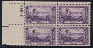 USA  SCOTT #1003  MNH 1951  3c  PB of 4  BATTLE OF BROOKLYN  SEE SCAN