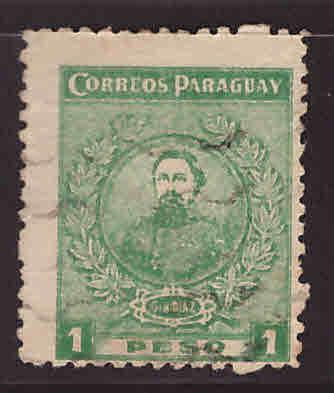 Paraguay Scott 259 Used map stamp