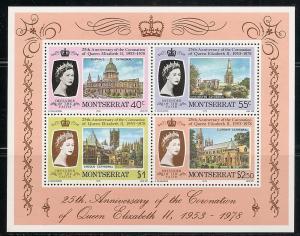 Montserrat 388a 1978 25th Coronation s.s. NH