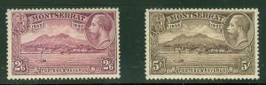 MONTSERRAT #B3-4 Anniversary of Colonization, high values in set, og, NH, VF