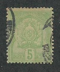 Tunisia Scott Catalog Number 11 Used Issued in the year 1888
