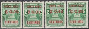 Costa Rica  #C341-4  MNH (S7296L)