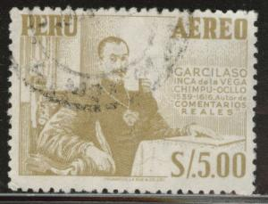 Peru  Scott C188 Used Citron color watermark 346
