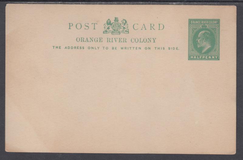 Orange Free State H&G 40 mint 1912 ½p green KEVII Postal Card, F-VF