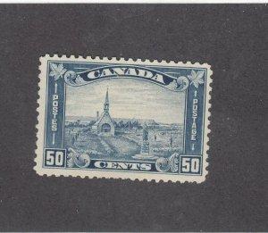 CANADA (MK3731) # 176  VF-MLH  50cts GRAND PRE CHURCH  /BLUE SHADE CAT VAL $300