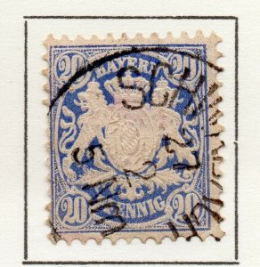 Bayern Bavaria 1876 Early Issue Fine Used 20pf. NW-120716
