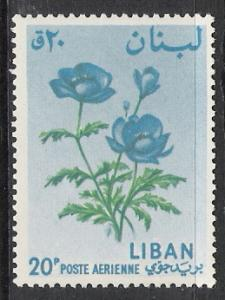 Lebanon #C393 Airmail Flowers MNH