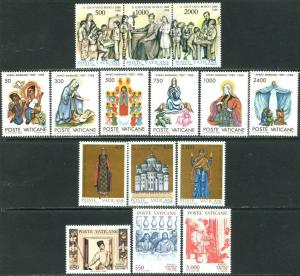 VATICAN Sc#806-825, C83-C87 Six Sets & 1 S/S 1988 Year Complete Mint OG NH