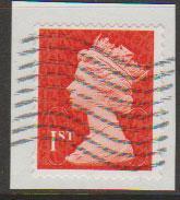 GB QE II Machin SG U2968d - 1st vermillion  - date code M12L - Source  S