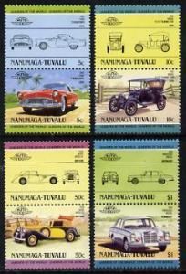 Tuvalu - Nanumaga 1984 Cars #2 (Leaders of the World) set...