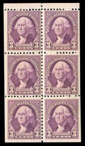 momen: US Stamps #720b Mint OG NH Booklet VF