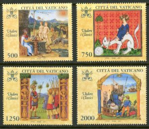 Vatican City MNH mint 1041-4 medieval art      (Inv 001774.)