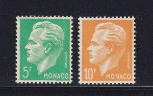 Monaco Scott # 258 - 259 set VF OG mint Lightly Hinged scv $ 32 ! see pic !