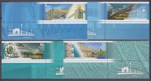 2011 Russia 1733-1736+Tab Architecture - Pedestrian bridges 5,50 €