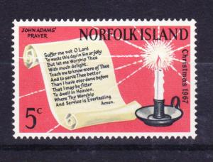 NORFOLK ISLAND 1967 Christmas MNH