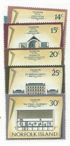 Norfolk Islands  #164-169 Buildings  (MNH)  CV $4.60