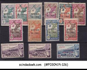 FRENCH GUIANA ININI - 1932-40 SELECTED STAMPS - 13V - MINT NH
