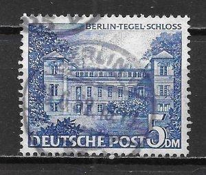 Germany Berlin 9N60 5m Tegel Castle single Used (z2)