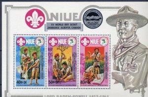 1983 Niue Scout XV World Jamboree Canada BadenPowell SS