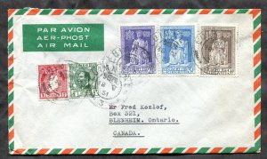 p250 - IRELAND 1951 Airmail Cover to CANADA