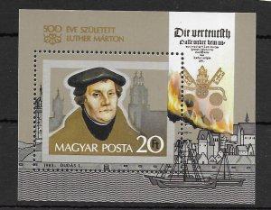 Hungary #2796 MNH - Souvinir Sheet - CAT VALUE $2.75