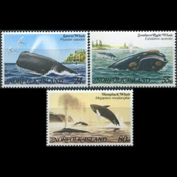 NORFOLK IS. 1982 - Scott# 290-2 Whales Set of 3 NH