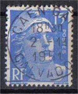 FRANCE, 1951, used 15f, Marianne SG653