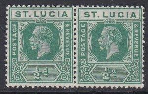ST. LUCIA, Scott 76, MNH pair