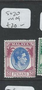 MALAYA PENANG (P1208B) KGVI $1.00  SG20  MOG